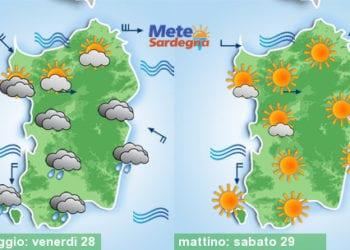 Le previsioni meteo per oggi e sabato.