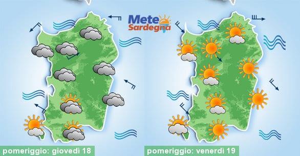 Domani Scirocco e nubi in aumento, da venerdì Maestrale e temperature giù.