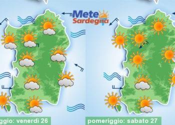 Si prospetta uno splendido weekend estivo e le piogge continueranno a latitare.