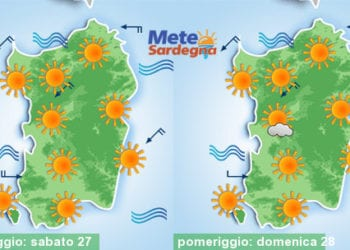 Si prospetta un weekend all'insegna del bel tempo e del caldo estivo.