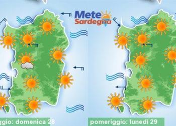 Weekend e inizio settimana prossima con sole e caldo.
