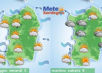 Ondata di caldo in arrivo, ma sabato anche qualche debole pioggia.