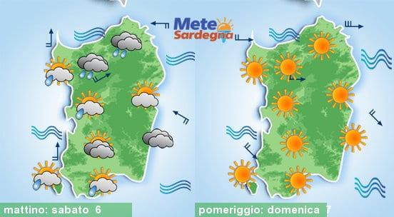 Sabato confermiamo la possibilità di qualche pioggia. Domenica sole.
