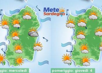 Mercoledì e giovedì prevalenza di bel tempo e temperature in aumento.