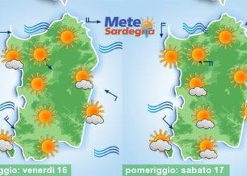 Clou del caldo tra oggi e venerdì, mentre tra sabato e domenica temperature decisamente in calo.