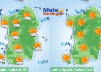Si prospetta un weekend di gran sole e di caldo.