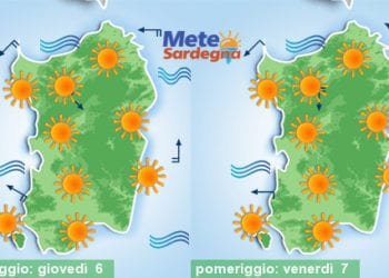 Meteo sardegna 3 350x250 - Sempre più caldo: inizio settimana prossima 40°C