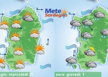 Meteo sardegna 20 350x250 - Rapido peggioramento giovedì, con piogge poi freddo