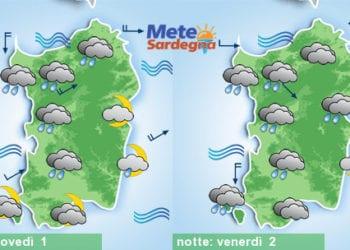 Meteo sardegna 21 350x250 - Rapido peggioramento giovedì, con piogge poi freddo