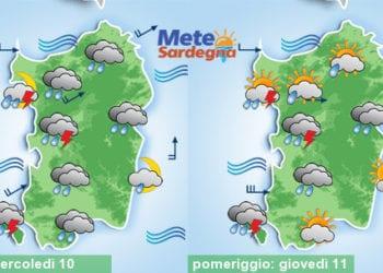 Meteo sardegna 6 350x250 - Meteo in peggioramento: piogge, temporali, neve sui monti