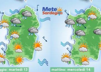Meteo sardegna 10 350x250 - Rapido peggioramento giovedì, con piogge poi freddo
