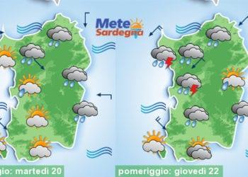 Meteo sardegna 14 350x250 - Rapido peggioramento giovedì, con piogge poi freddo