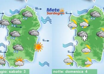 Meteo sardegna 2 350x250 - Rapido peggioramento giovedì, con piogge poi freddo