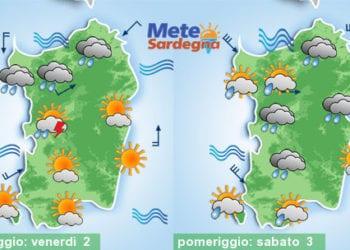 Meteo sardegna 350x250 - Rapido peggioramento giovedì, con piogge poi freddo