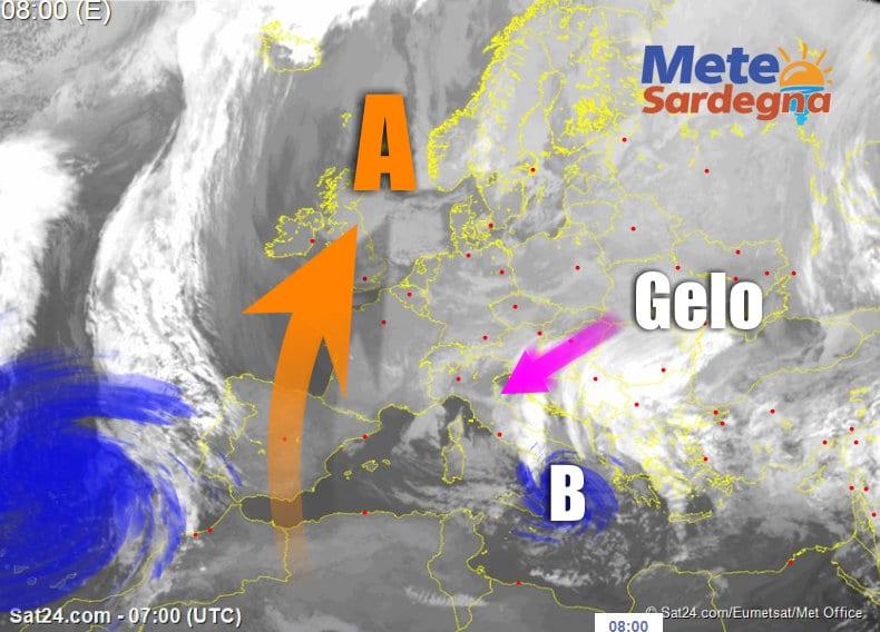 Meteosat 1 - Arriva la neve, sin sulle coste