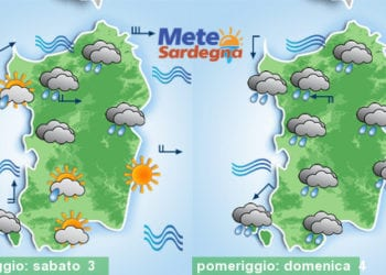 Meteo sardegna 350x250 - Rapido rialzo temperature, arrivano le piogge