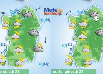 Meteo sardegna 6 350x250 - Rapido peggioramento giovedì, con piogge poi freddo