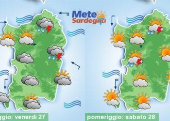 Meteo sardegna 6 350x250 - Tornano le piogge! Ecco la previsione per le prossime 24 ore
