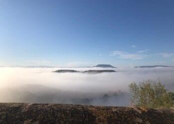 Ploaghe, veduta della nebbia da inversione termica. Credit Eliana, Ploaghe.