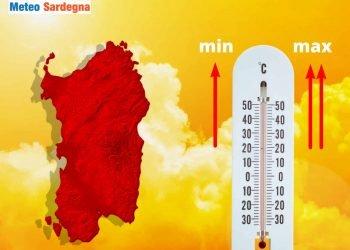 aumento della temperatura in sardegna