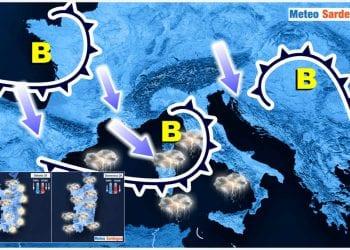 Evoluzione meteo piuttosto perturbata in Sardegna nel fine settimana.