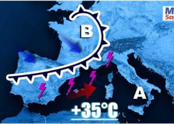 meteo prossimi giorni sardegna con un graduale peggioramento mappa 350x250 - Tornano le piogge! Ecco la previsione per le prossime 24 ore