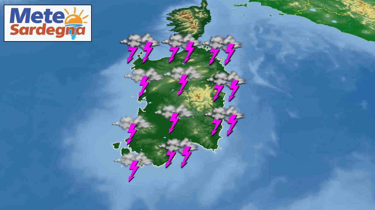 meteo sardegna prossimi giorni 1 - Meteo avverso in Sardegna, arriva una forte perturbazione. Rischio nubifragi