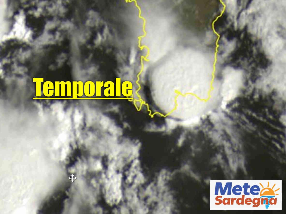 meteosat temporale cagliari - Temporale su Cagliari, vista Meteosat della forza della natura