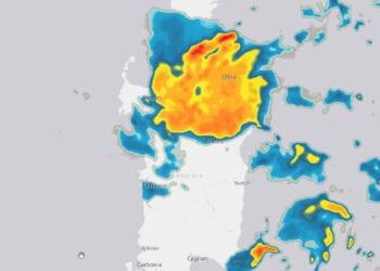 radar piogge sardegna 350x250 - Meteo Sardegna, gli accessi al sito web di ieri 8 agosto 2021