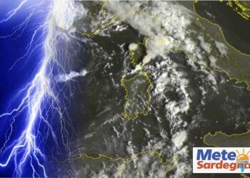 Sardegna, meteo tropicale. Credit immagine EUMETSAT-SAT24.