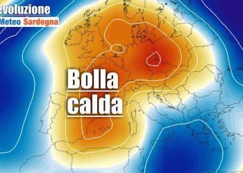 Bolla aria calda verso la Sardegna.