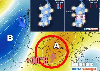Evoluzione meteo con caldo africano.