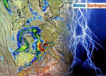 frequenti perturbazioni verso la sardegna 350x250 - Nuovo, intenso peggioramento meteo alle porte