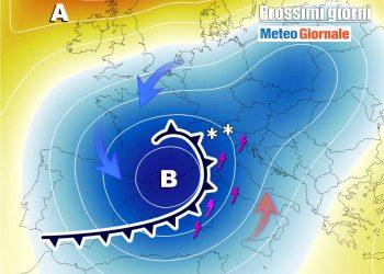 Sardegna, meteo prossimi giorni con perturbazioni.