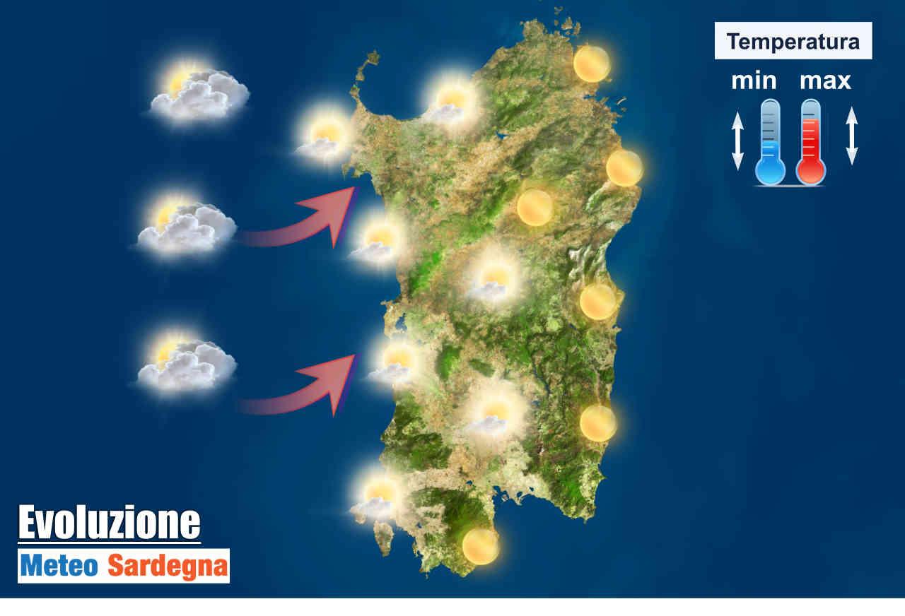 Meteo prossimi giorni Sardegna.