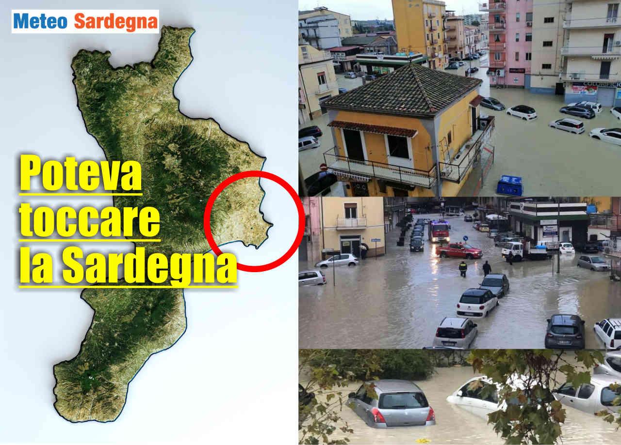 Alluvione a Crotone, in Calabria.