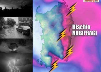 Forte maltempo in Sardegna con nubifragi nelle prossime ore.