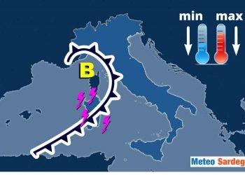 Meteo Sardegna in peggioramento.