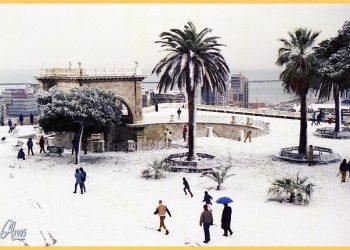 Nevicata del 9/1/1985; Cagliari. Fonte flickr.com.