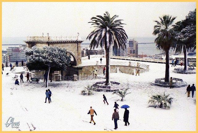 cagliari neve 1985 - Cagliari e la neve, quella vera. Ecco come potrebbe cadere