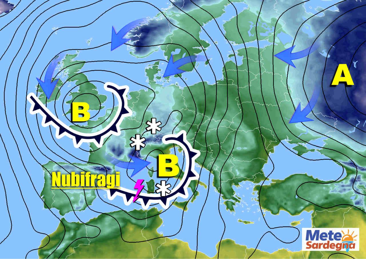 sardegna meteo prossimi giorni - SARDEGNA, meteo torna il MALTEMPO, ma con FREDDO. Neve forte sui rilievi