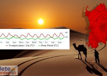 evoluzione meteo con ondata di caldo sardegna