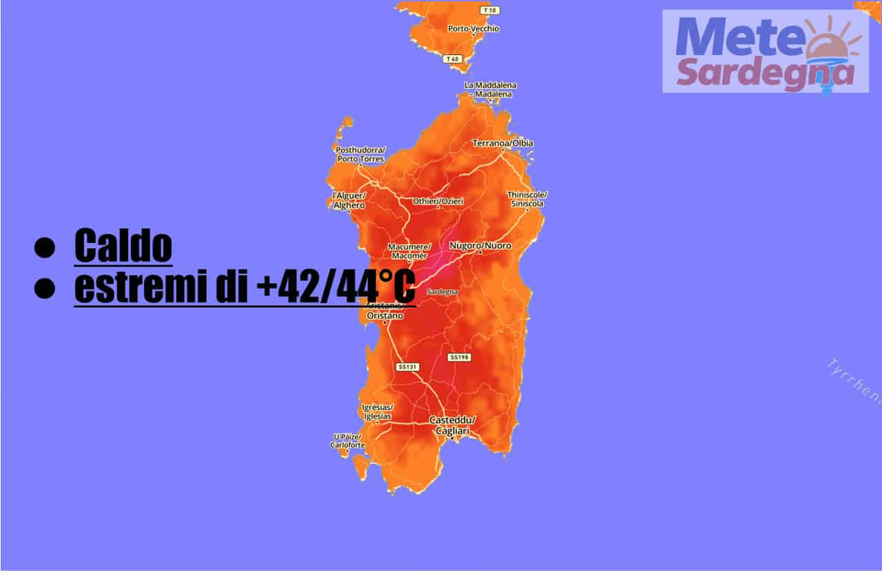 Weather in Sardinia BURST of HEAT waves, today up to 20 degrees