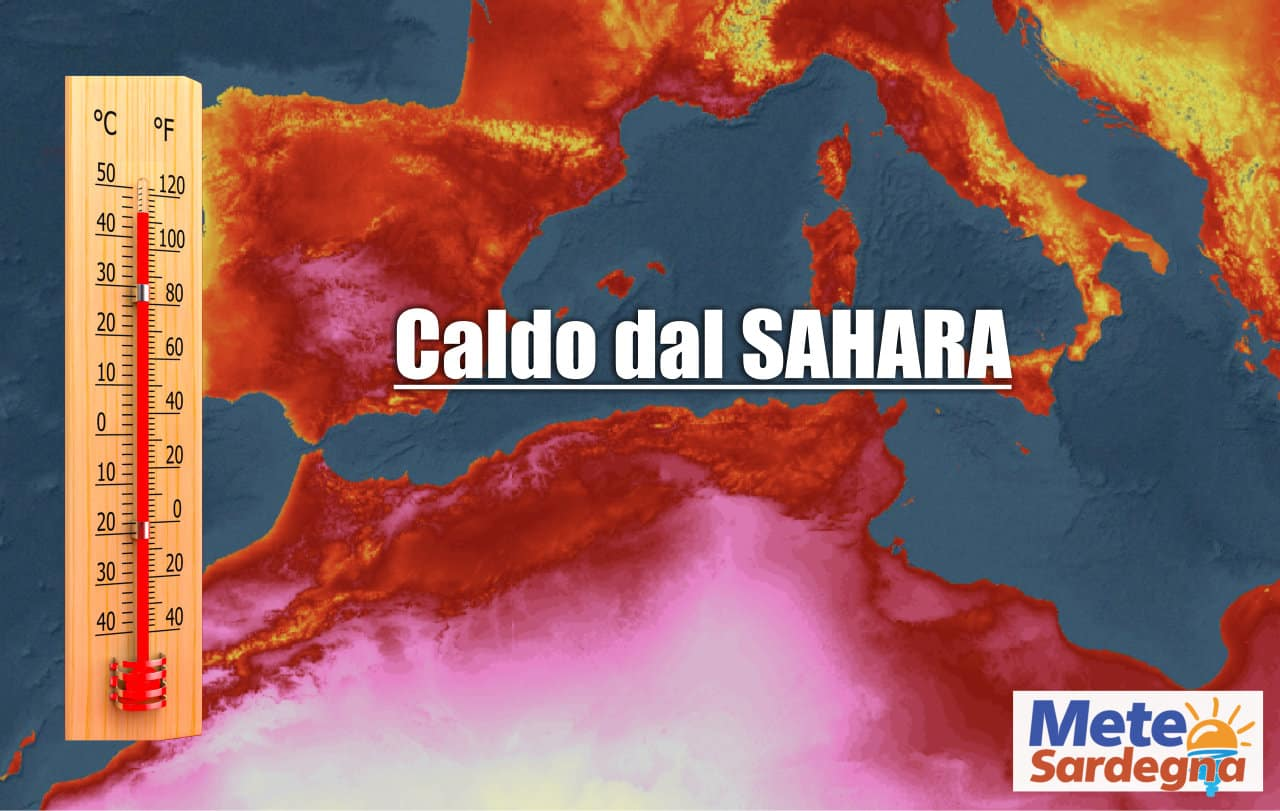 meteo con ondata di calore - Meteo Sardegna inizia un asfissiante ondata di caldo: picchi di oltre 45 gradi