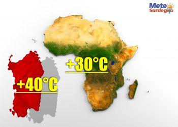 Centro Africa meno caldo che in Sardegna.