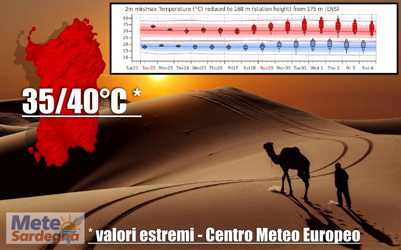 meteo sardegna lucifero e alta pressione africana - Meteo Sardegna, Lucifero non andrà via dall'Isola per due settimane ancora