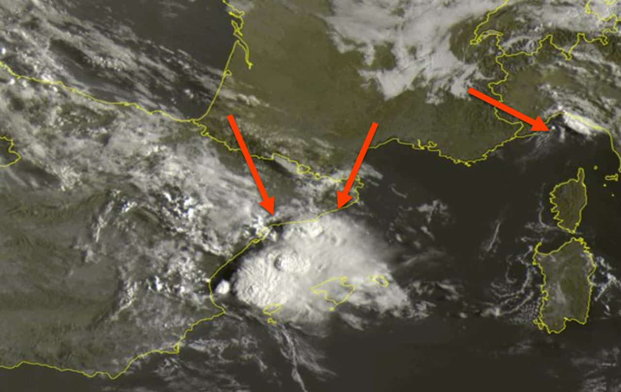 meteosat 8 30 - Meteo Sardegna, ecco i primi temporali marittimi