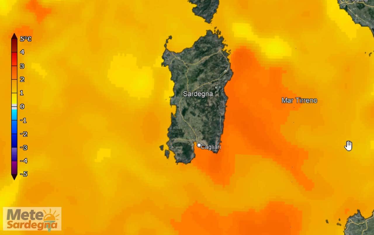 anomalie temperatura mari sardegna - Mari della Sardegna con temperature tropicali, ecco causa del meteo estremo