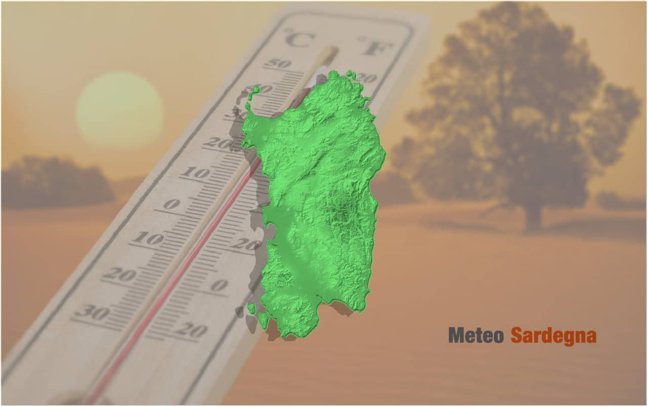 caldo eccezionale - SARDEGNA, meteo estivo, tropicale. Umidità esagerata. Mediterraneo caldissimo