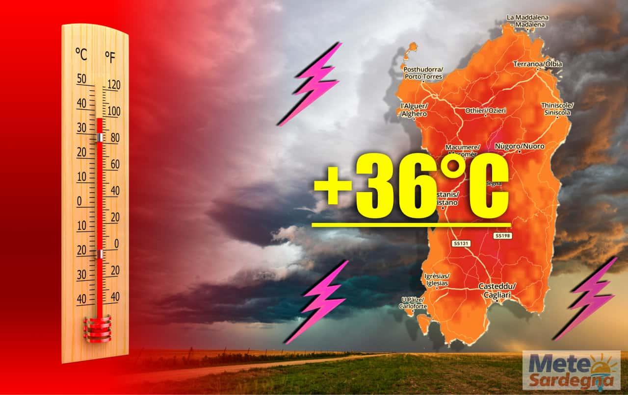 evoluzione meteo tropicale - SARDEGNA, meteo TROPICALE, molto CALDO con rischio TEMPORALI